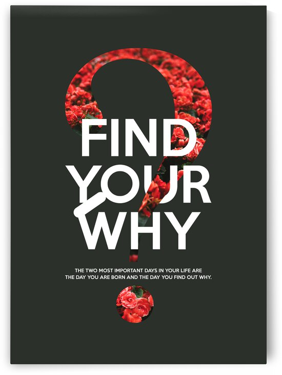Find Your Why Motivational Wall Art by ABConcepts
