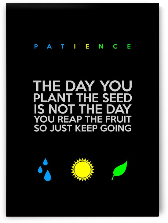Patience Motivational Wall Art by ABConcepts
