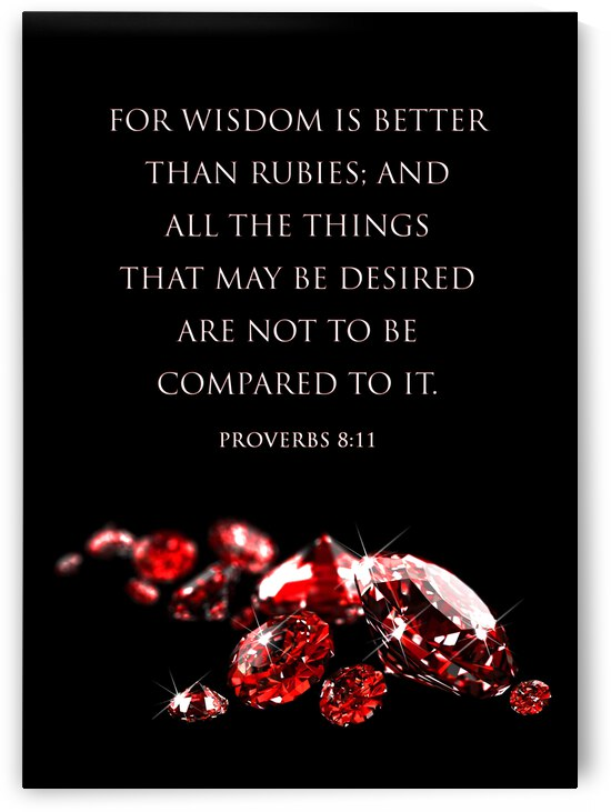 Proverbs 8:11 Motivational Wall Art by ABConcepts