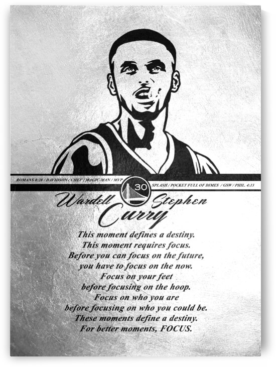 Stephen Curry Focus Motivational Wall Art by ABConcepts