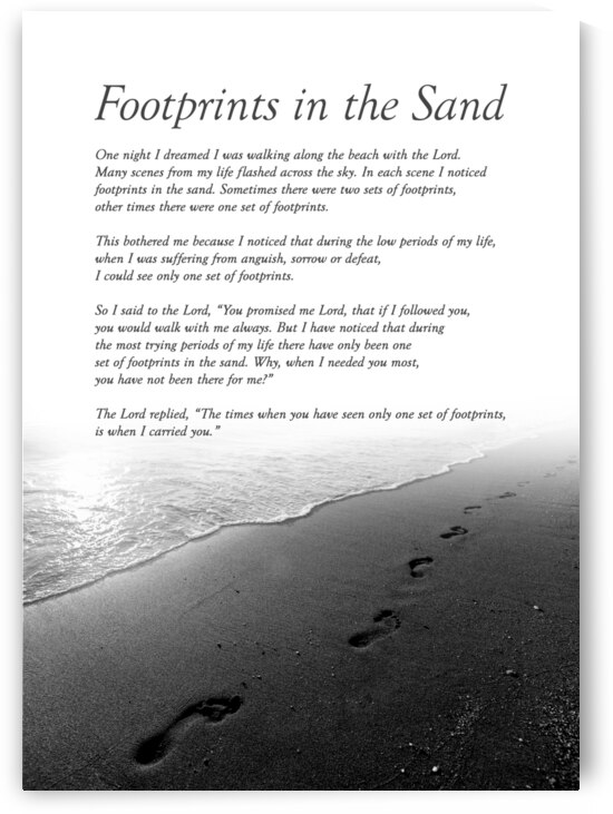 Footprints in the Sand Motivational Wall Art by ABConcepts