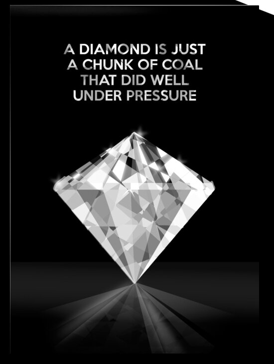 Coal Diamond Motivational Wall Art by ABConcepts
