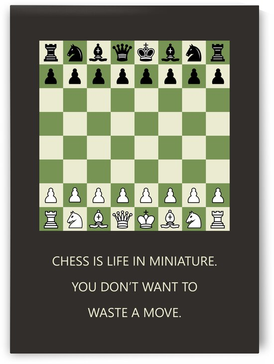 Chess Motivational Wall Art by ABConcepts