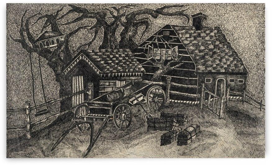 RA 013 - בית בכפר -  house in the village by Avi Romano Art