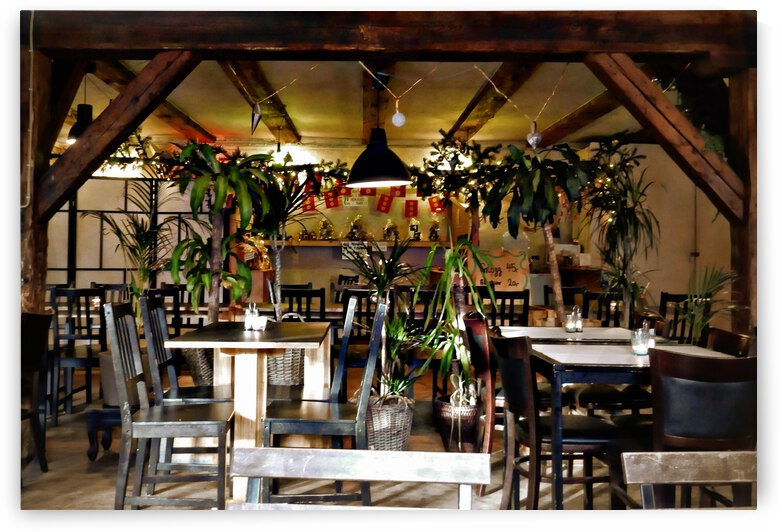 Cafe Interior Christianshavn Copenhagen by Dorothy Berry-Lound