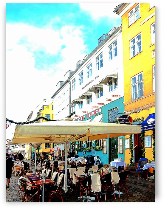 Choose a Place to Eat Nyhavn Harbour Copenhagen by Dorothy Berry-Lound