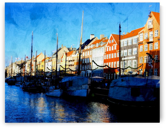 Shadows at Nyhavn by Dorothy Berry-Lound