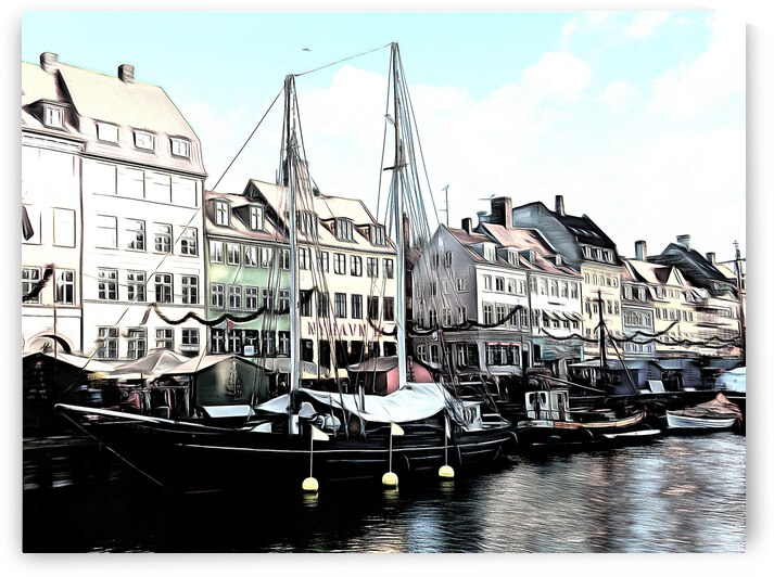 Whitewash at Nyhavn by Dorothy Berry-Lound