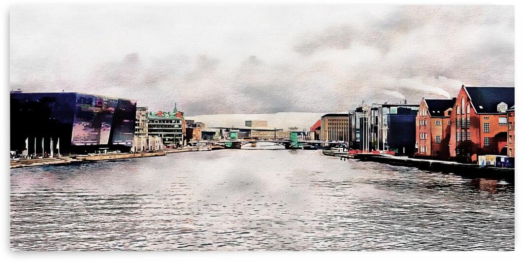 View from Langebro Bridge Copenhagen by Dorothy Berry-Lound