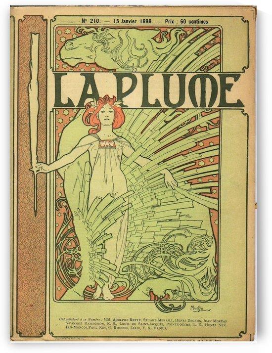 La Plume by Alphonse Mucha by VINTAGE POSTER