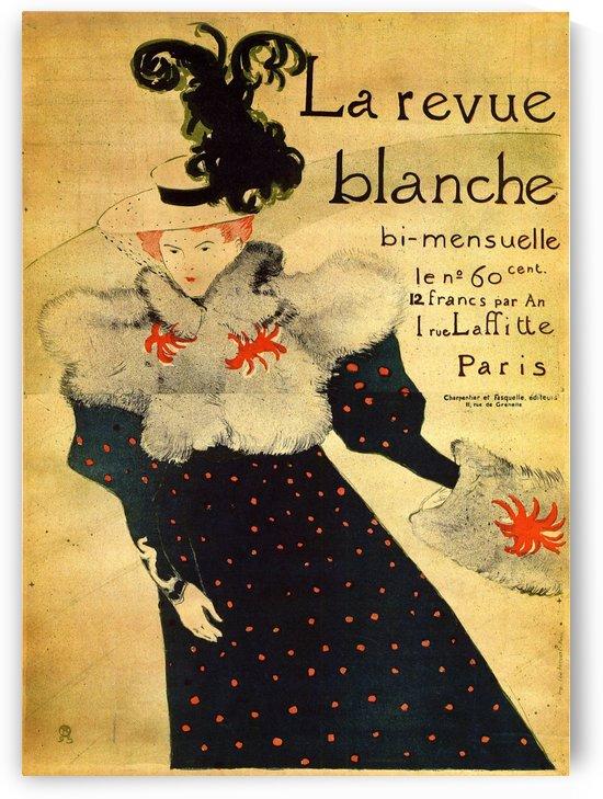 La reveu blanche by Toulouse-Lautrec by VINTAGE POSTER