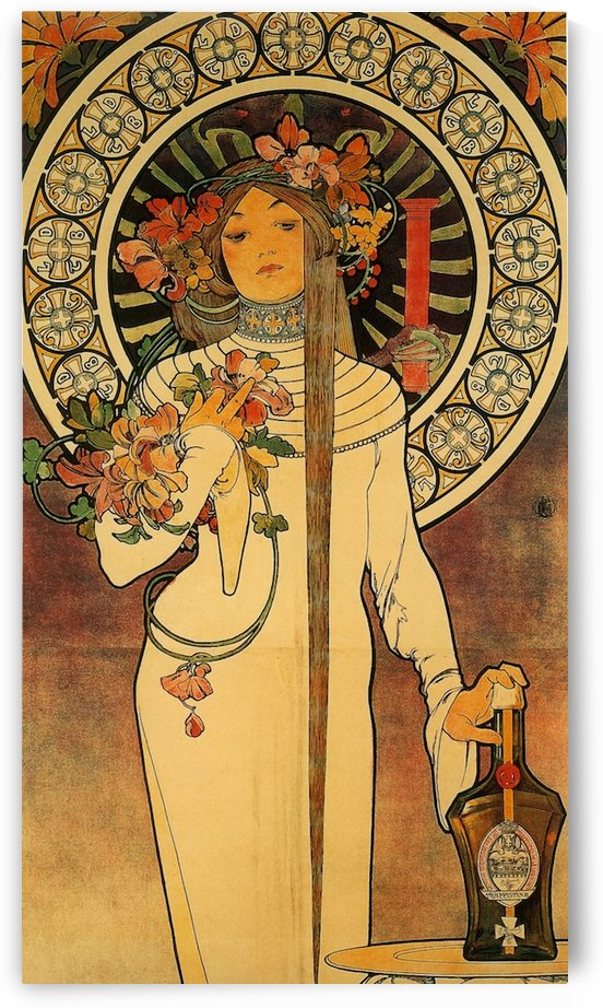 La Trappistine by Alphonse Mucha by VINTAGE POSTER