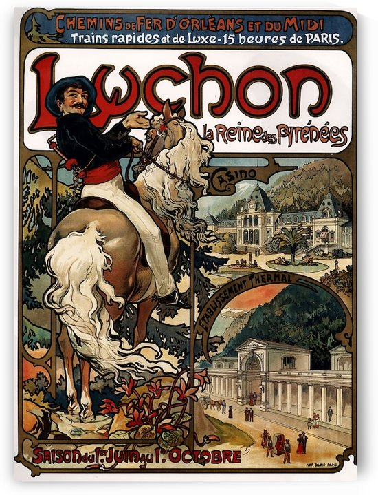 Luchon by Alphonse Mucha by VINTAGE POSTER