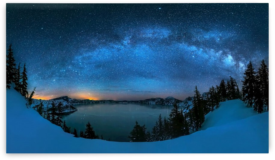 Starry night over the Crater Lake by 1x