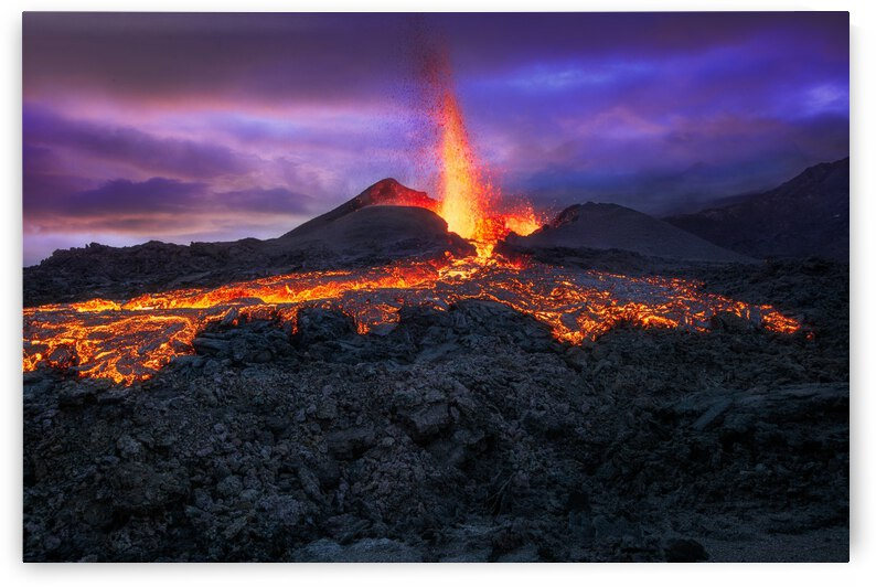Fire at blue hour! by 1x