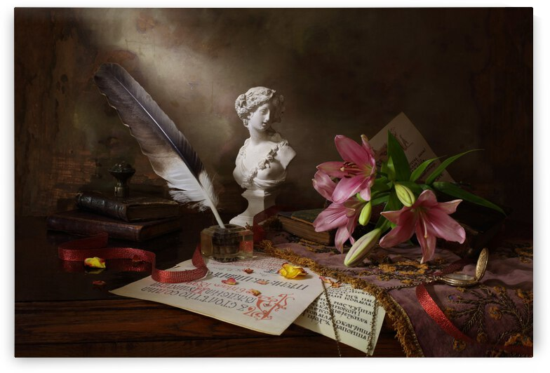 Still life with lily and bust by 1x