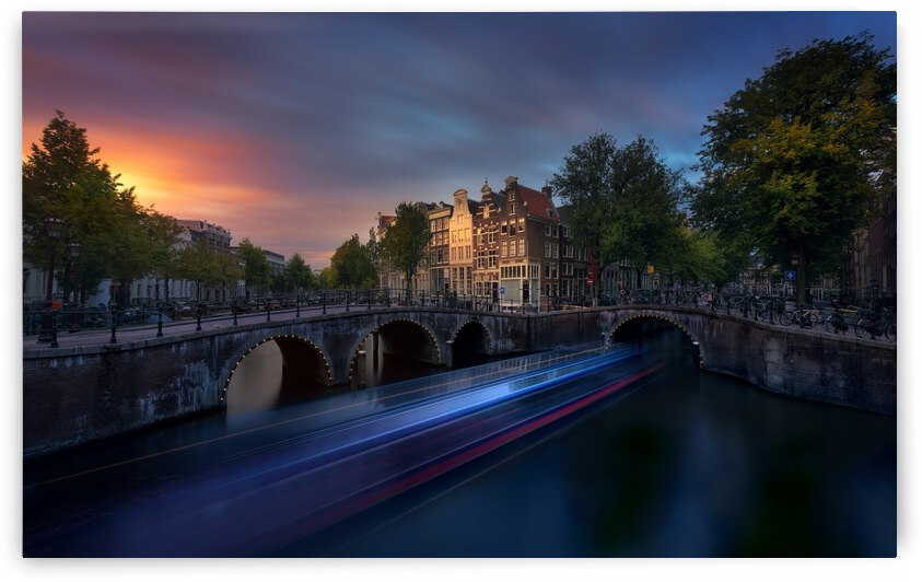 Amsterdam Sunset by 1x