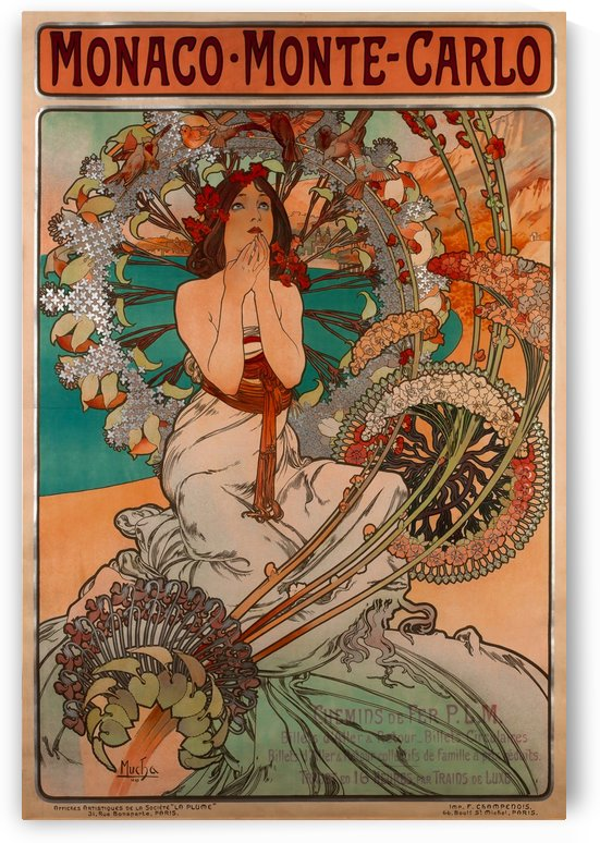 Monaco by Alphonse Mucha by VINTAGE POSTER