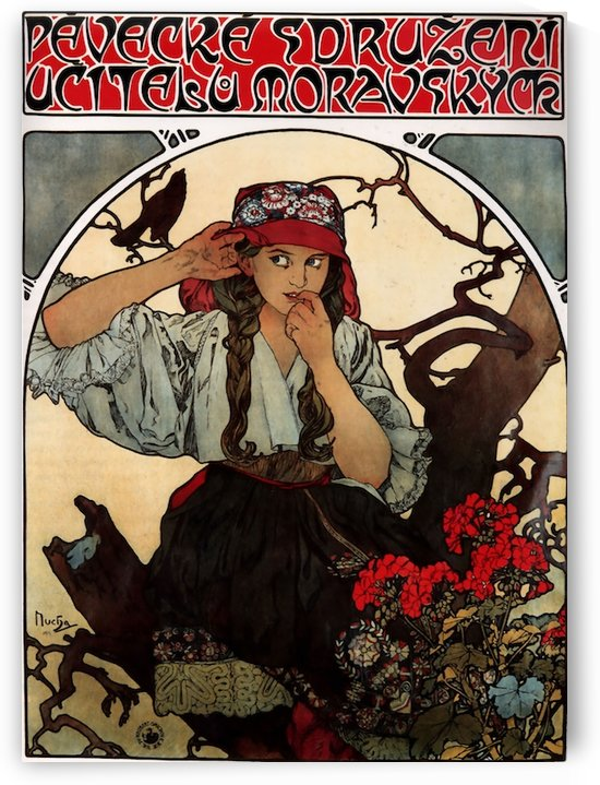 Moravian teachers choir by Alphonse Mucha by VINTAGE POSTER