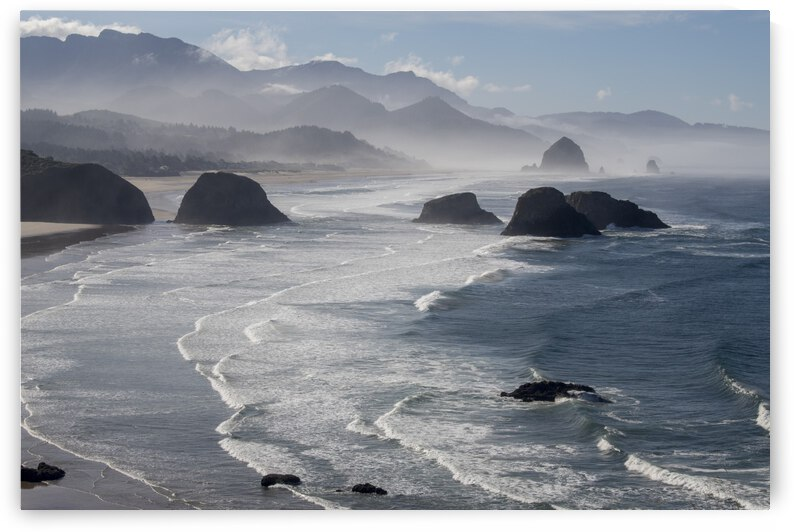 Morning view from Ecola Point by 1x