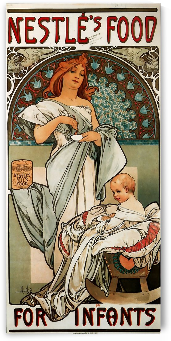 Nestle by Alphonse Mucha by VINTAGE POSTER