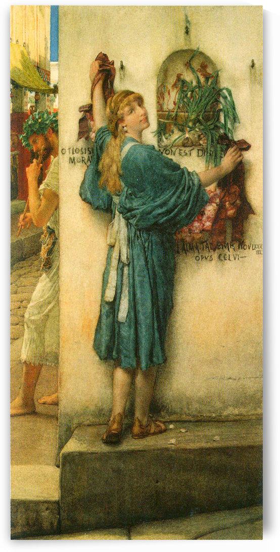 A road altar by Alma-Tadema by Alma-Tadema