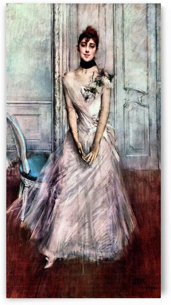 White pastel picture by Giovanni Boldini by Giovanni Boldini