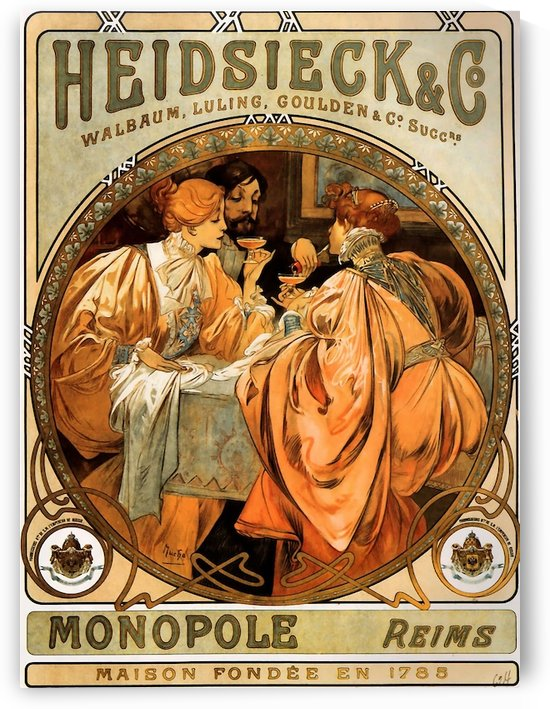 Piper Heidseicke by Alphonse Mucha by VINTAGE POSTER