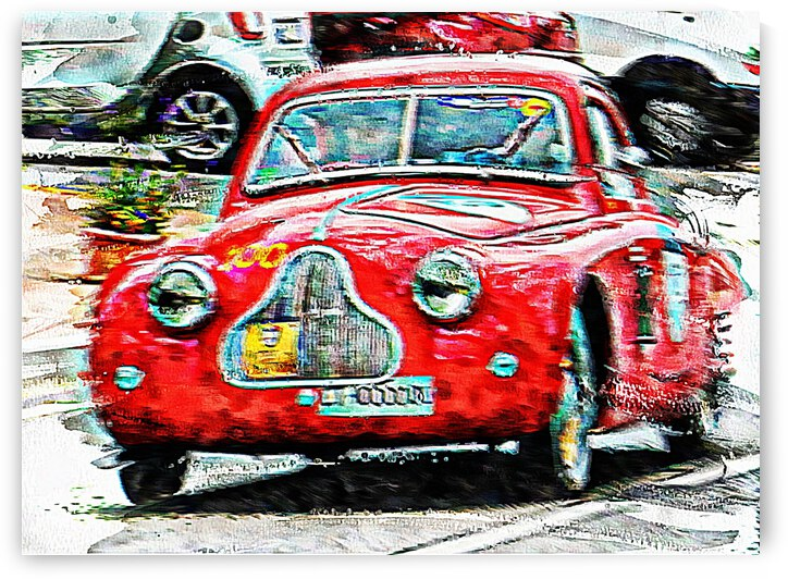 Racing Red in the Mille Miglia by Dorothy Berry-Lound