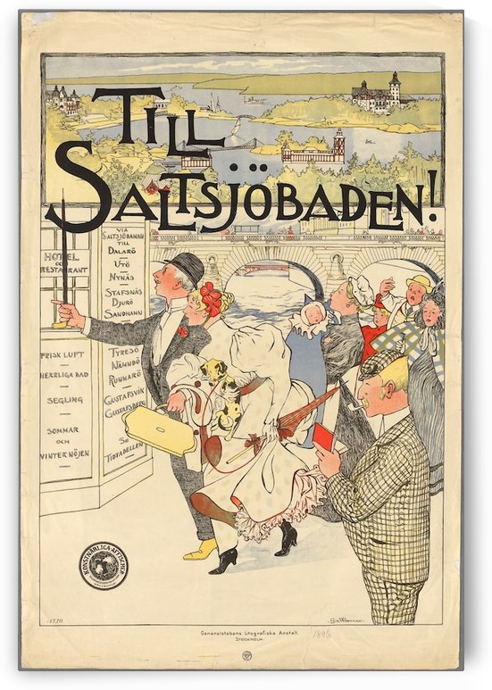 Poster of Sweden by VINTAGE POSTER