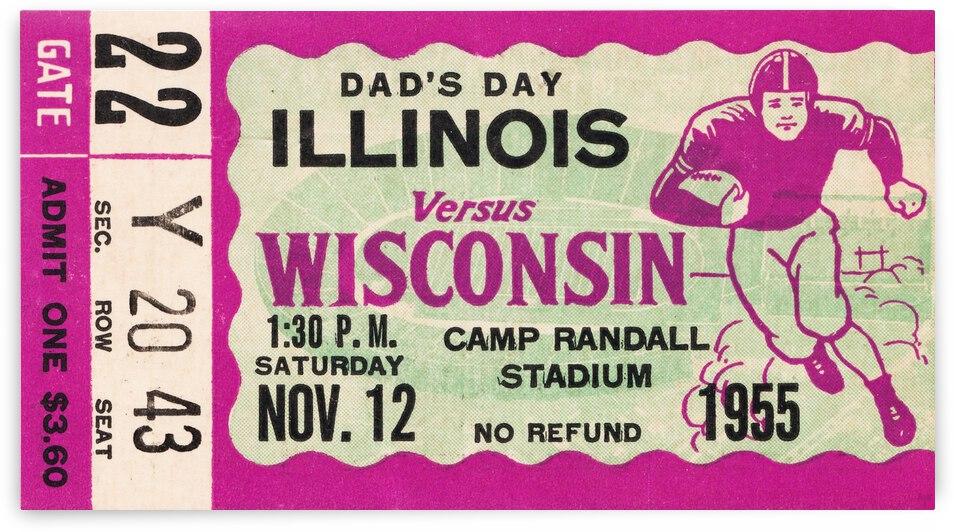 1955 Wisconsin vs. Illinois by Row One Brand