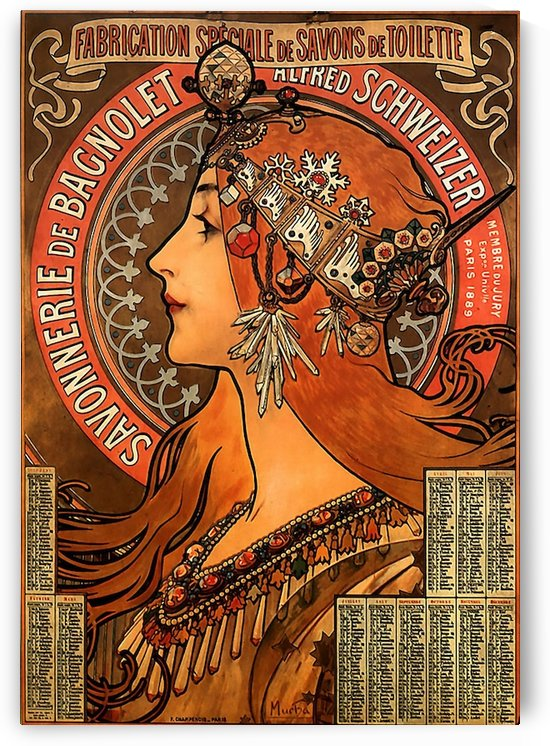 Savonnerie de Bagnolet by Alphonse Mucha by VINTAGE POSTER