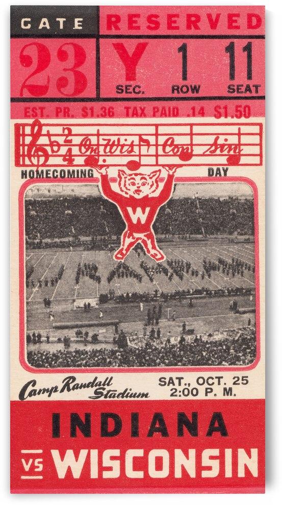 1941 Wisconsin vs. Indiana by Row One Brand