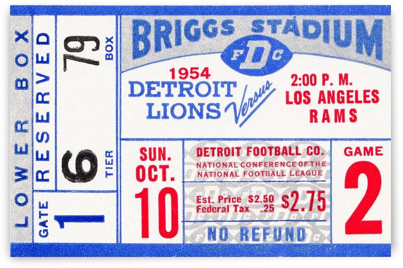 1954 Detroit Lions vs. LA Rams by Row One Brand