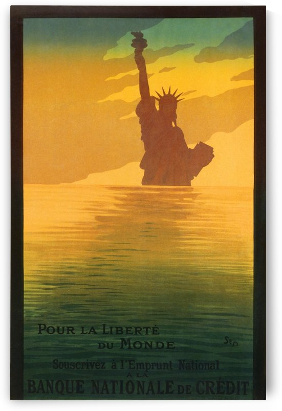 Statue of Liberty by VINTAGE POSTER