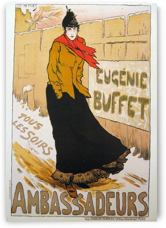 Eugenie Buffet Ambassadeurs Poster by VINTAGE POSTER