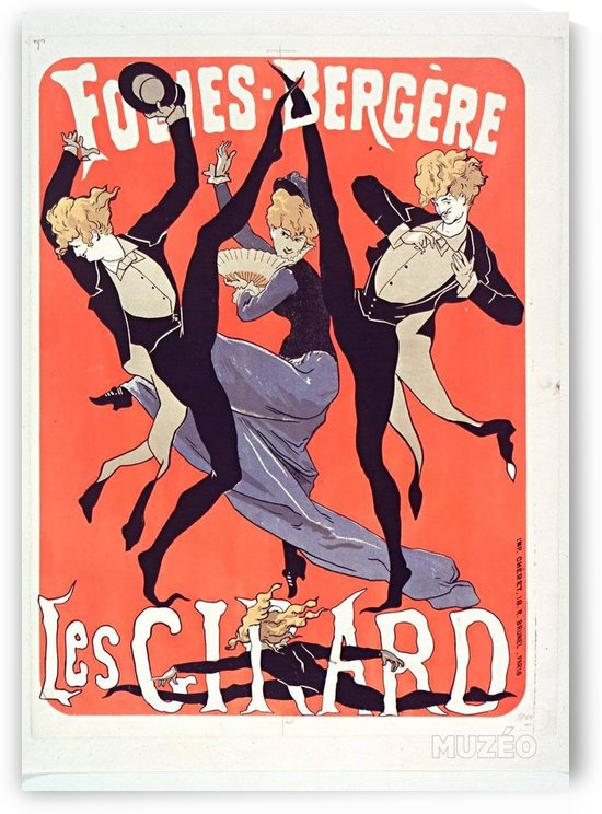 Les Girard red poster by Jules Cheret, 1879 by VINTAGE POSTER