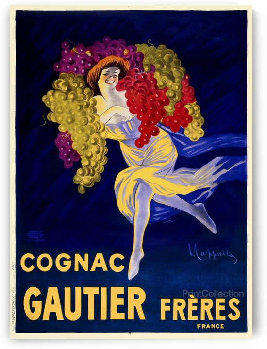 Cognac Gautier Freres Poster by VINTAGE POSTER