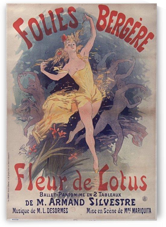 Folies Bergere Fleur de Lotus Poster by VINTAGE POSTER