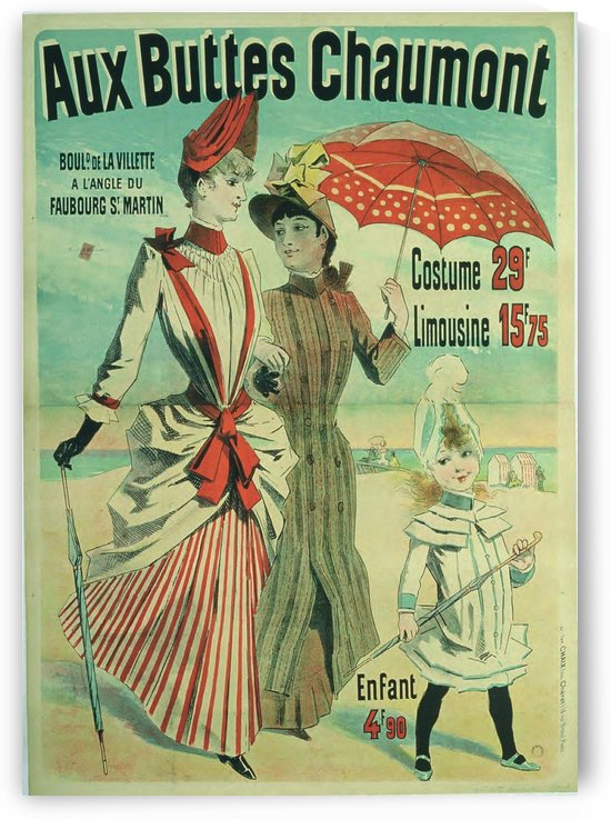 Aux Buttes Chaumont poster by VINTAGE POSTER