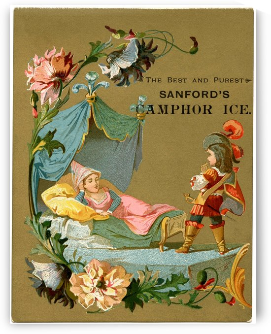 Sleeping Beauty Illustration Graphics Fairy Vintage Poster by VINTAGE POSTER