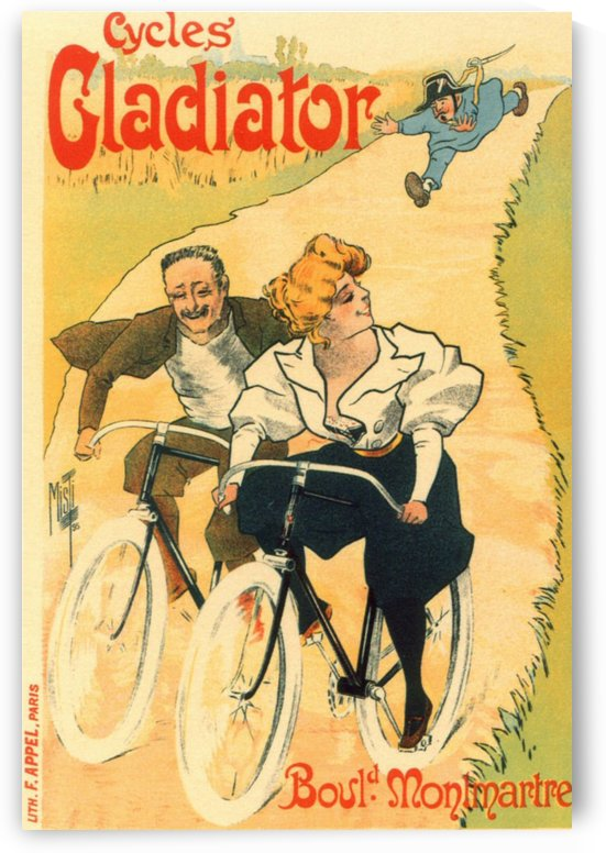 Cycles Gladiator poster in 1897 by VINTAGE POSTER