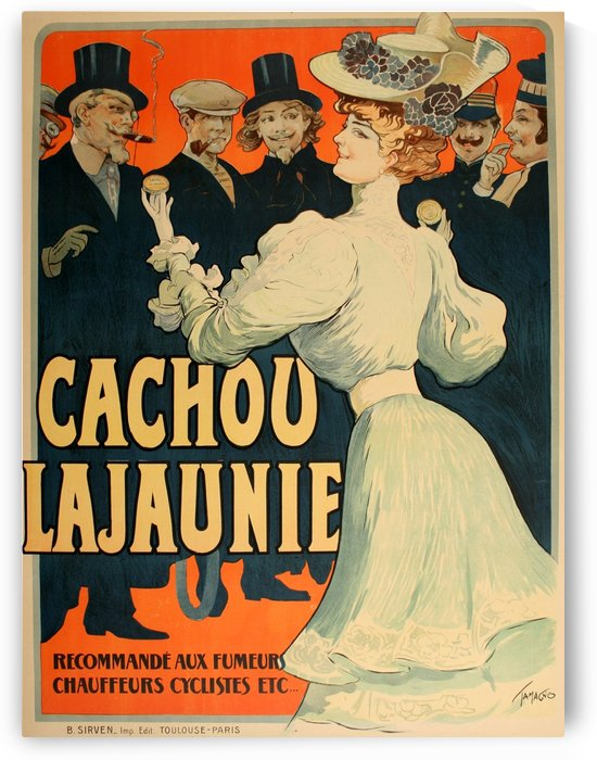 Cachou Lajaunie Tamagno poster by VINTAGE POSTER