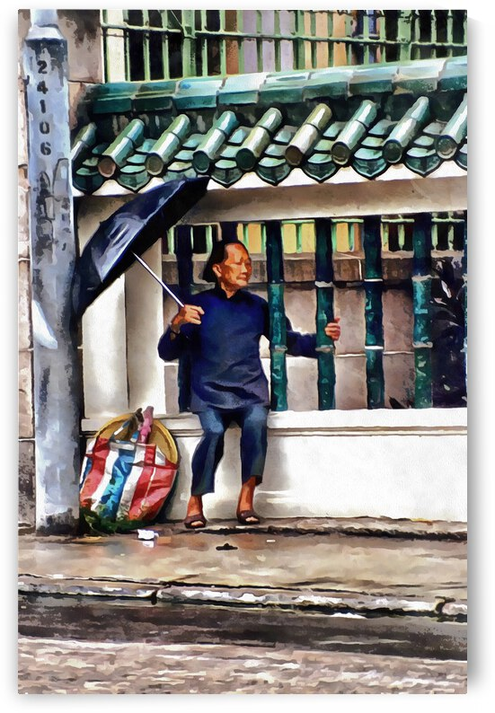 Sheltering From The Rain In Hong Kong by Dorothy Berry-Lound