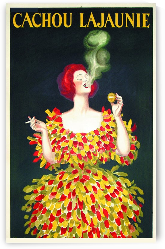 Cachou Lajaunie Cappiello poster by VINTAGE POSTER