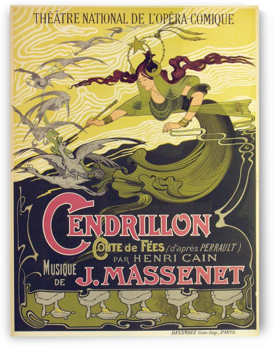 Original Cendrillon Poster, 1899 by VINTAGE POSTER
