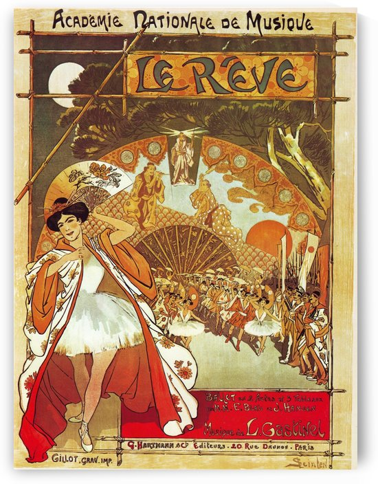 French opera poster by VINTAGE POSTER