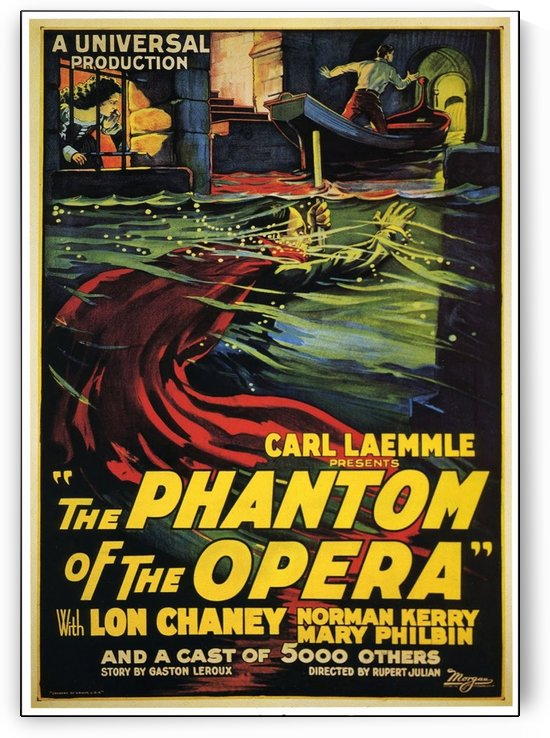 The Phantom of the Opera Vintage Film Poster by VINTAGE POSTER