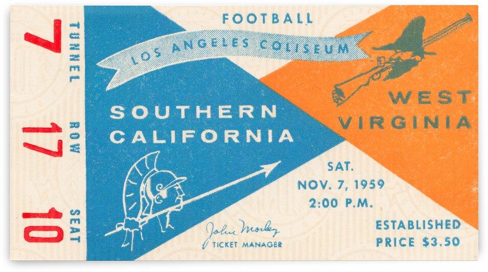 1959 USC vs. West Virginia by Row One Brand