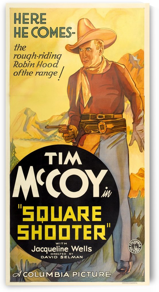 Square Shooter Vintage Film Poster, 1935 by VINTAGE POSTER